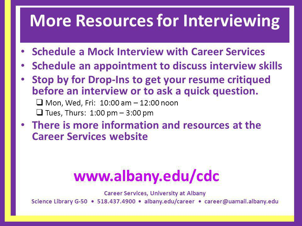 More Resources for Interviewing