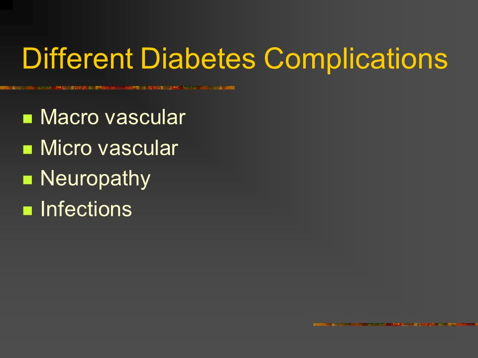 Different Diabetes Complications