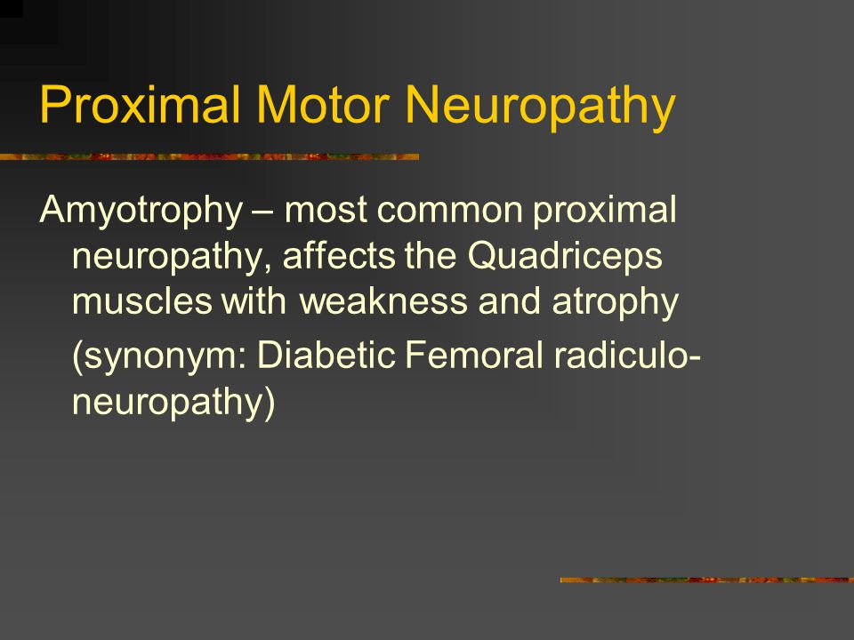 Proximal Motor Neuropathy