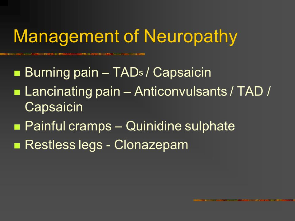 Management of Neuropathy