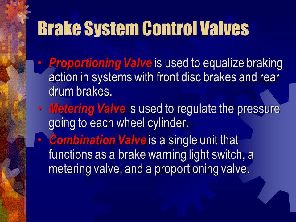 Brake System Control Valves