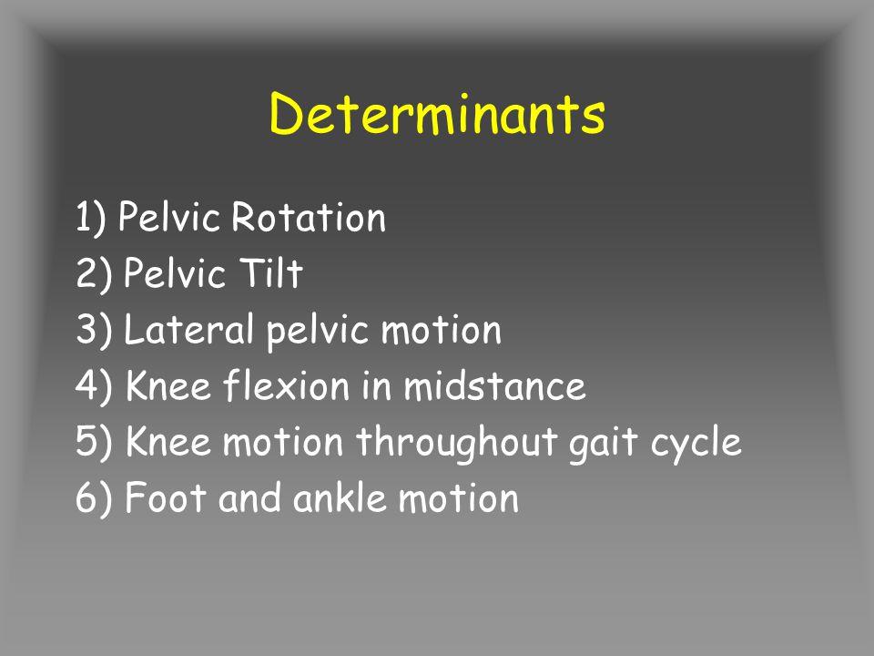 Determinants 1) Pelvic Rotation 2) Pelvic Tilt