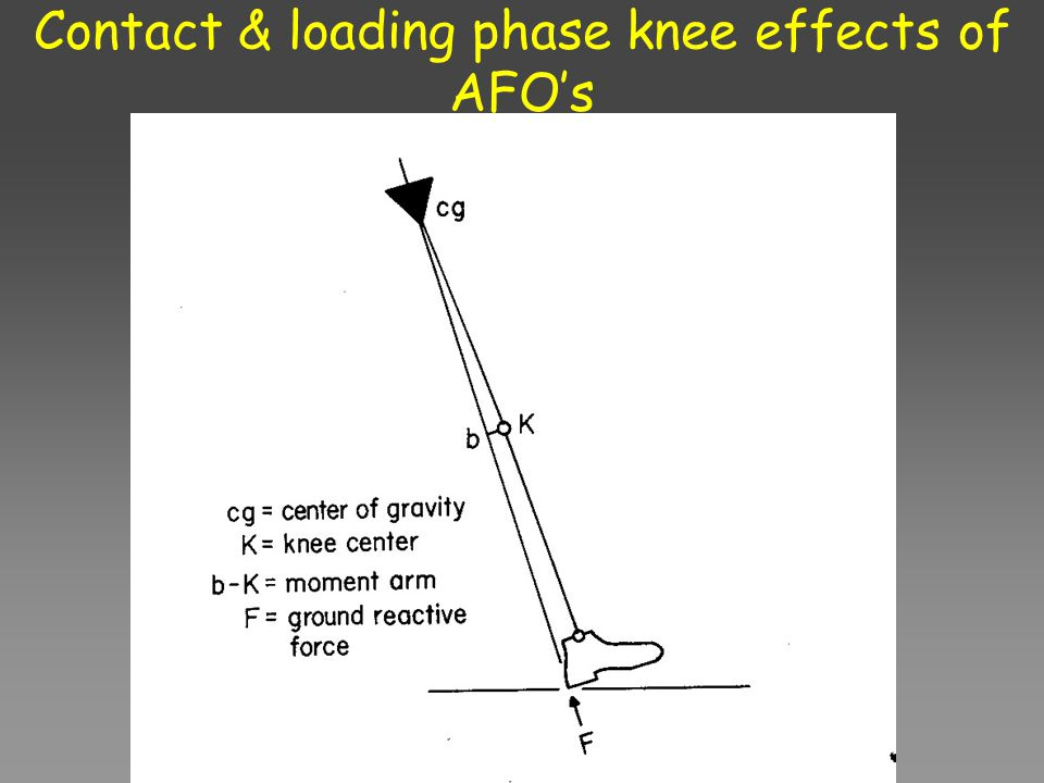 Contact & loading phase knee effects of AFO's