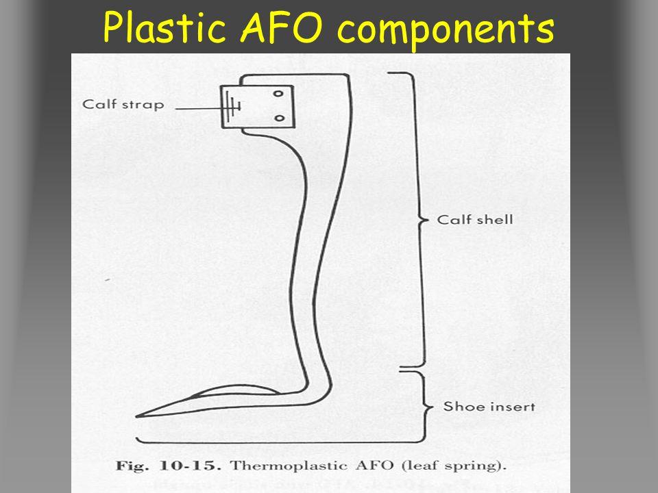 Plastic AFO components