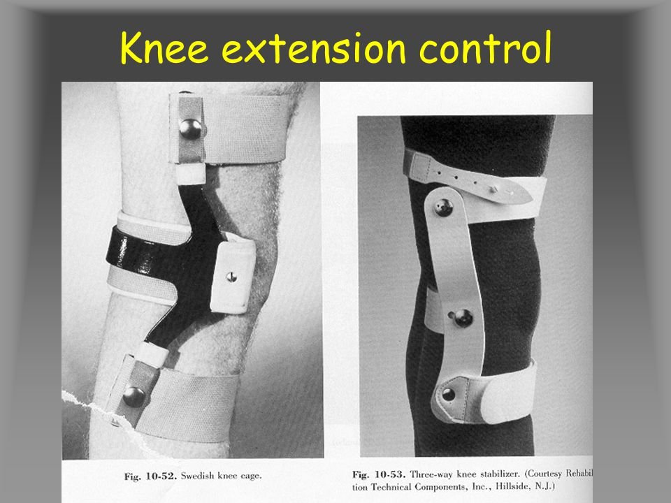 Knee extension control