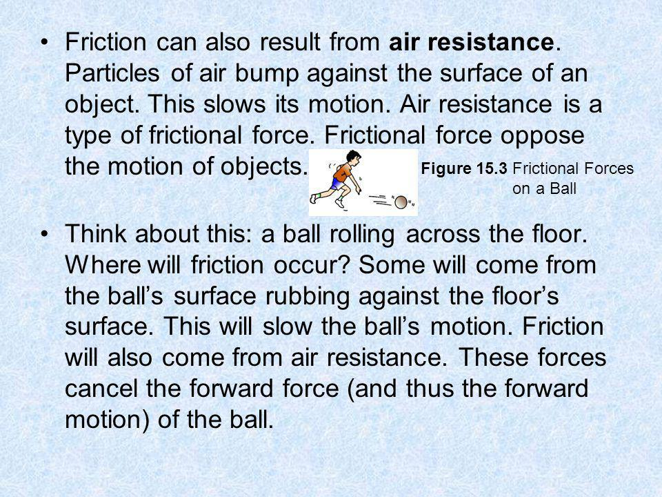 Friction can also result from air resistance