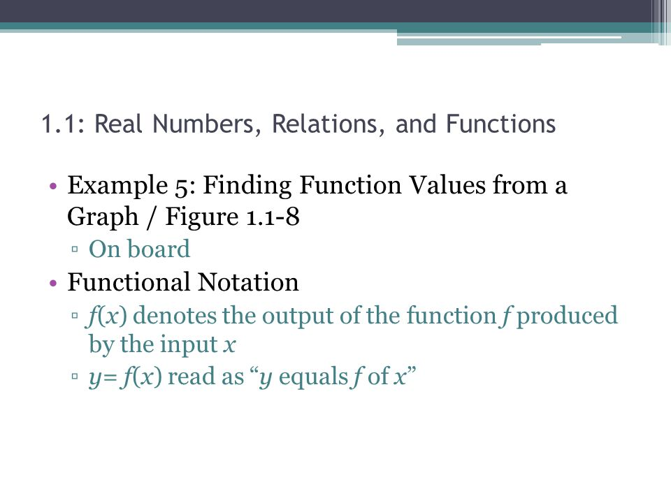 1.1: Real Numbers, Relations, and Functions