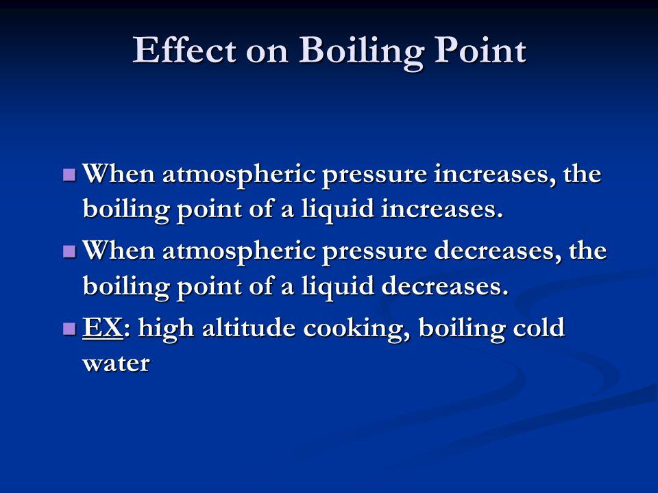 Effect on Boiling Point