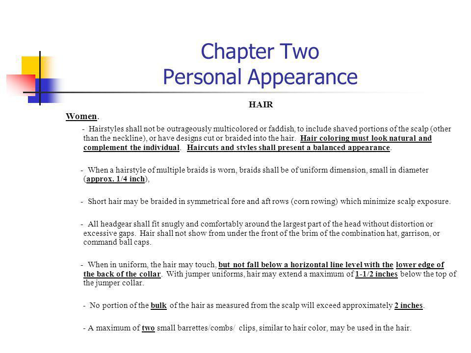 Chapter Two Personal Appearance