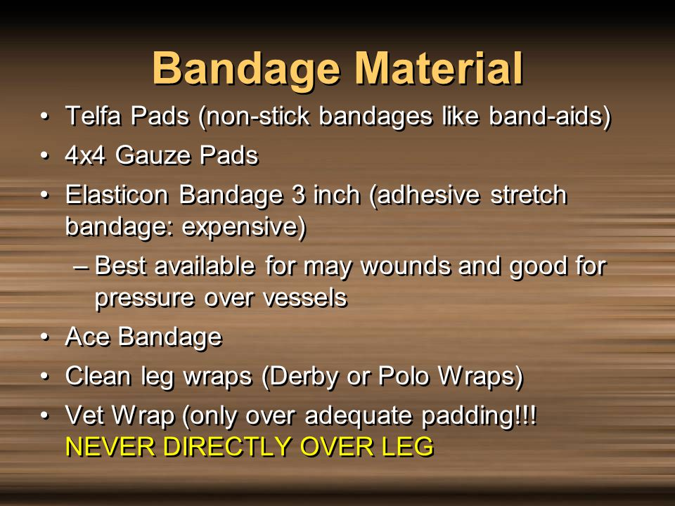 Bandage Material Telfa Pads (non-stick bandages like band-aids)