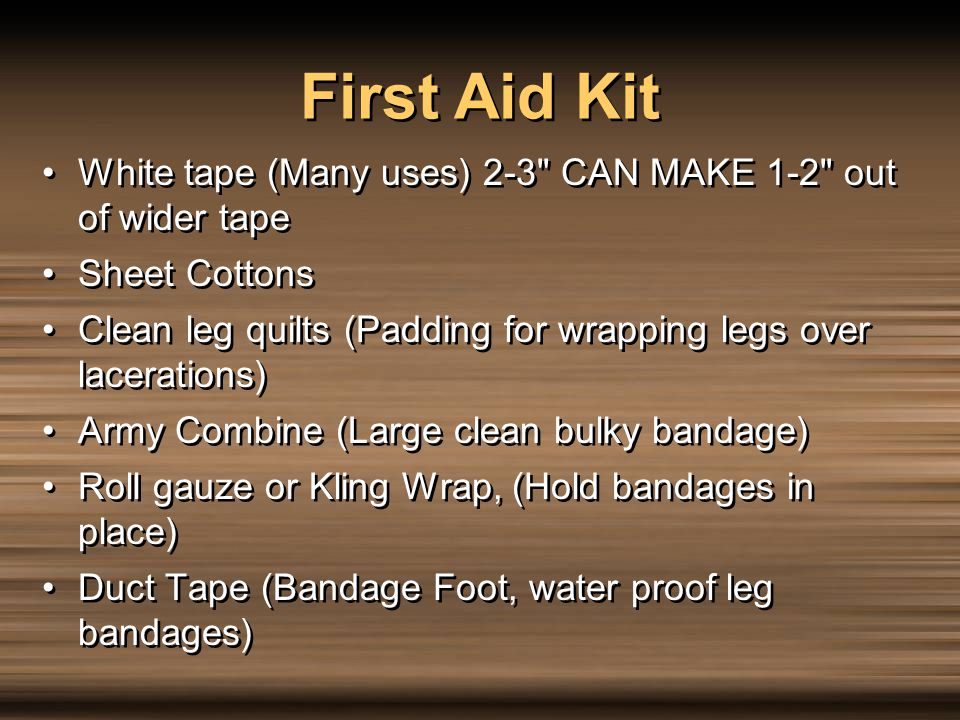 First Aid Kit White tape (Many uses) 2-3 CAN MAKE 1-2 out of wider tape. Sheet Cottons.