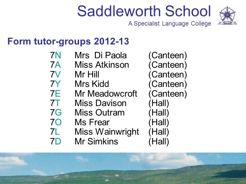 Form tutor-groups 2012-13