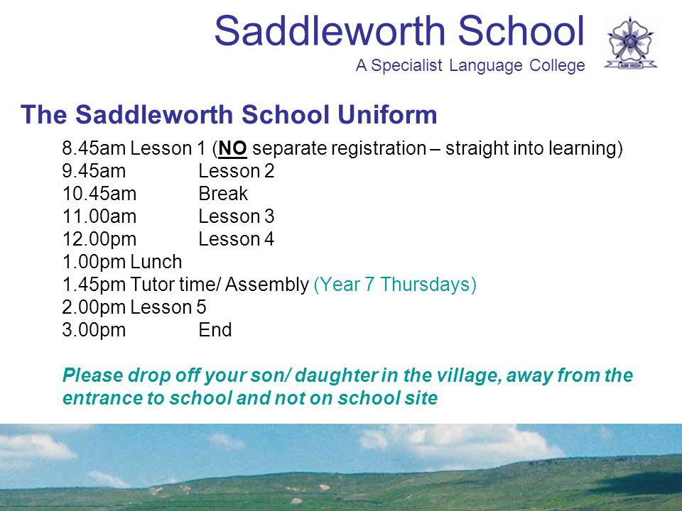 The Saddleworth School Uniform