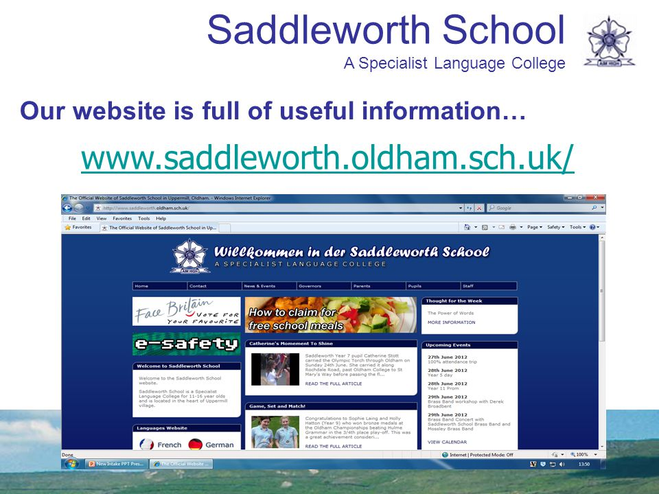 Our website is full of useful information…