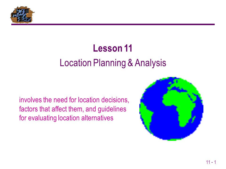 Location Planning & Analysis