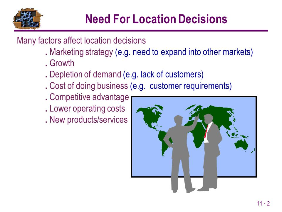 Need For Location Decisions
