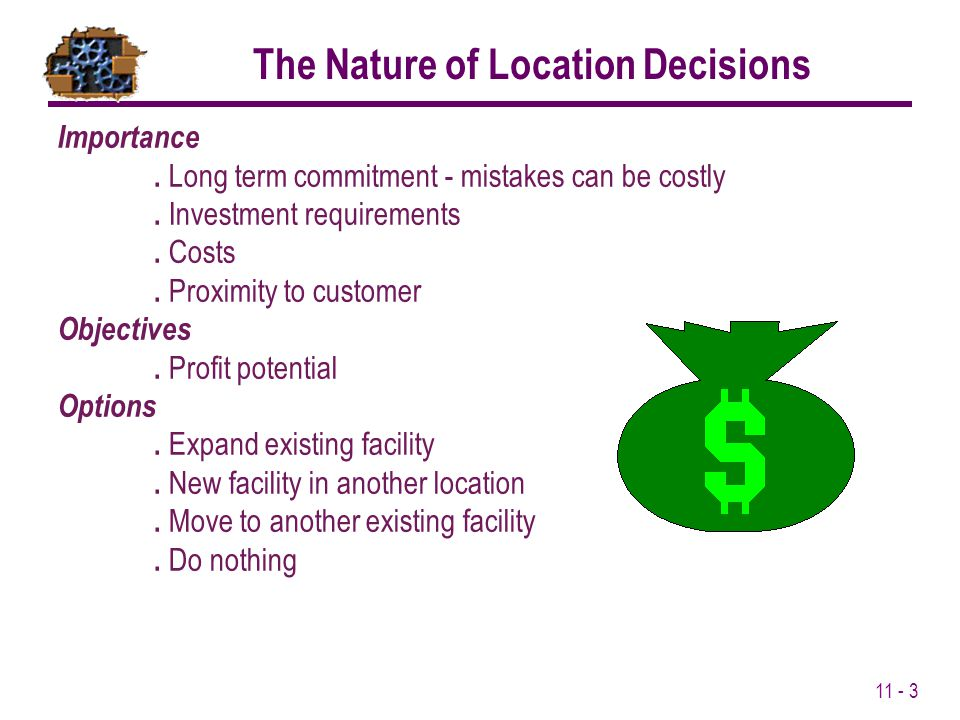 The Nature of Location Decisions