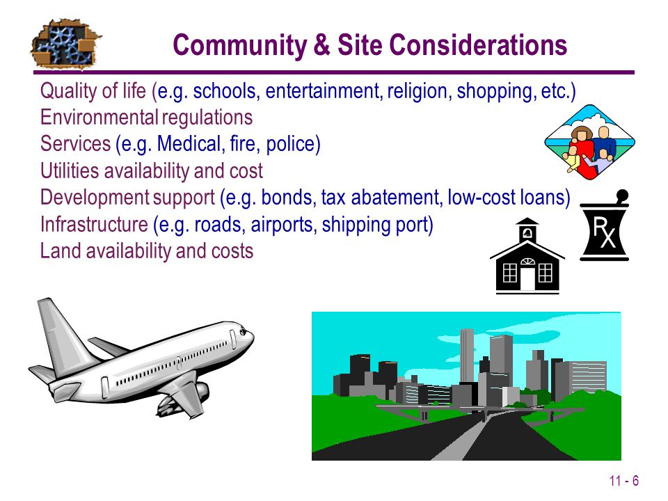 Community & Site Considerations
