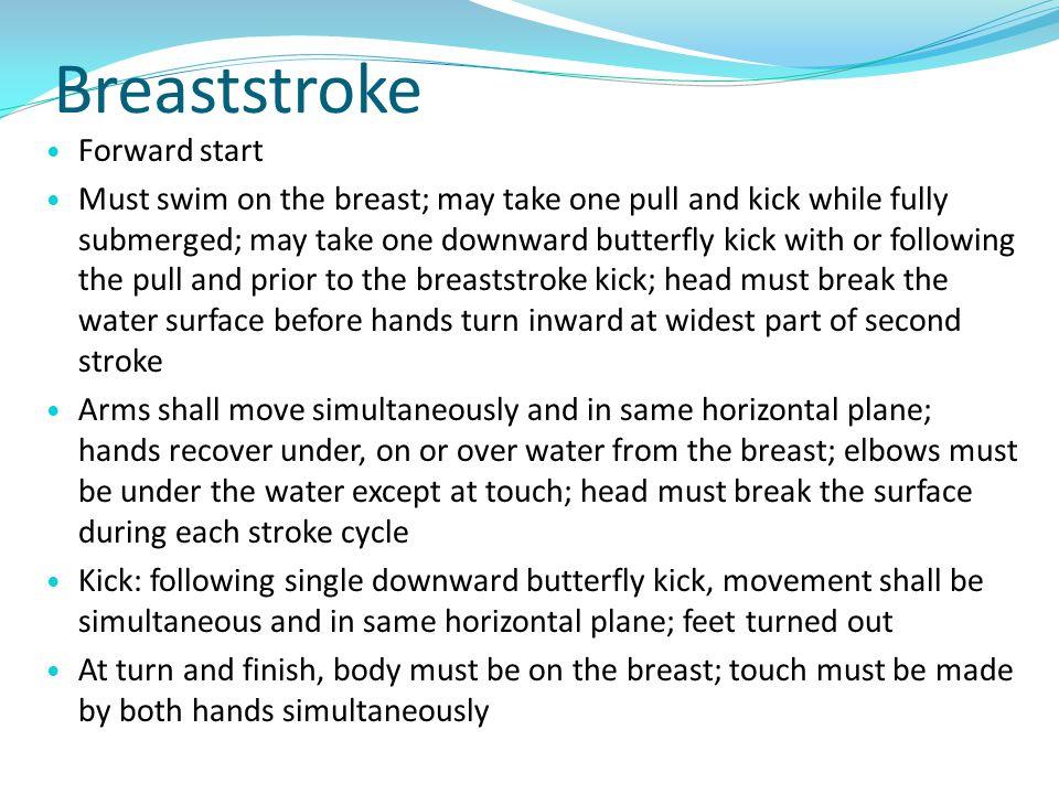 Breaststroke Forward start