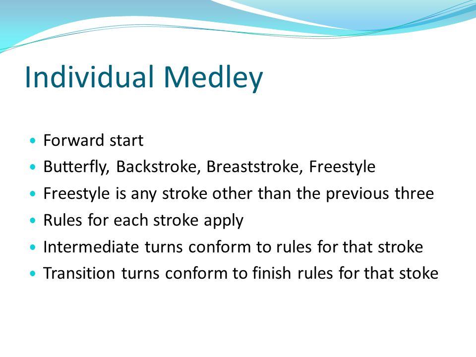 Individual Medley Forward start