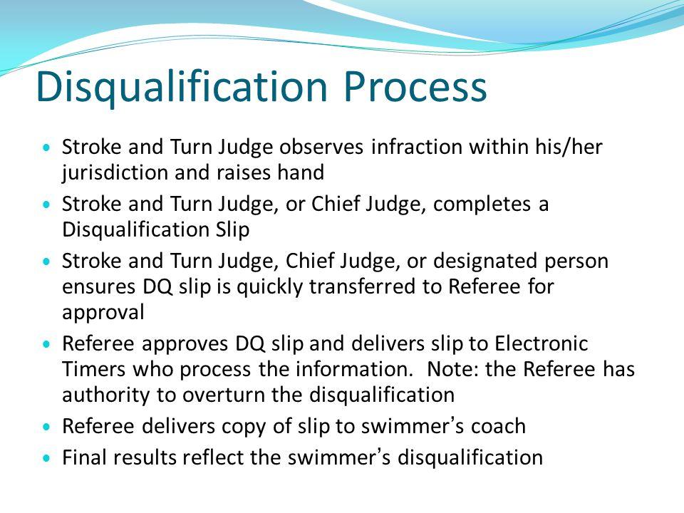 Disqualification Process