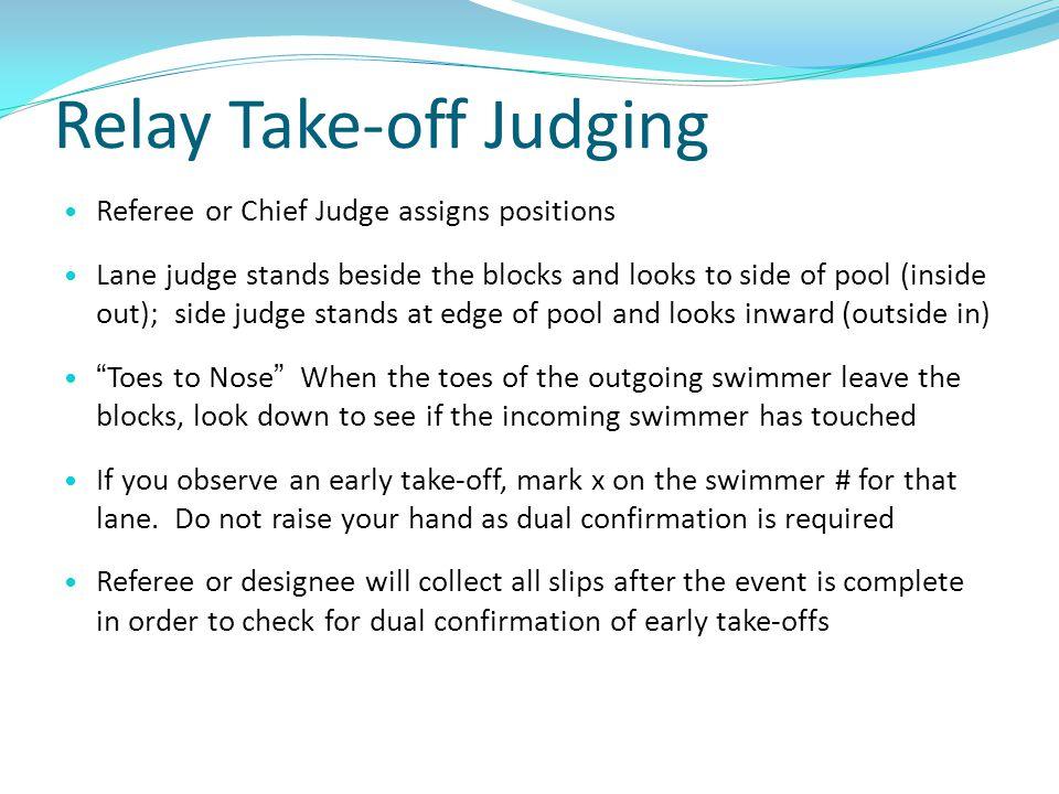 Relay Take-off Judging