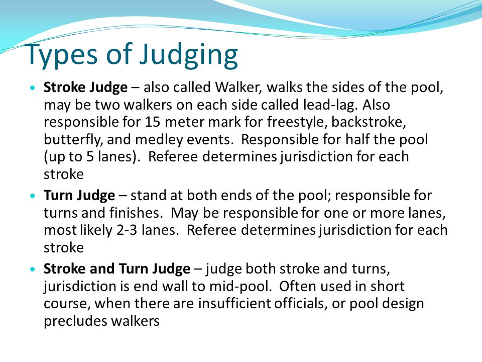 Types of Judging