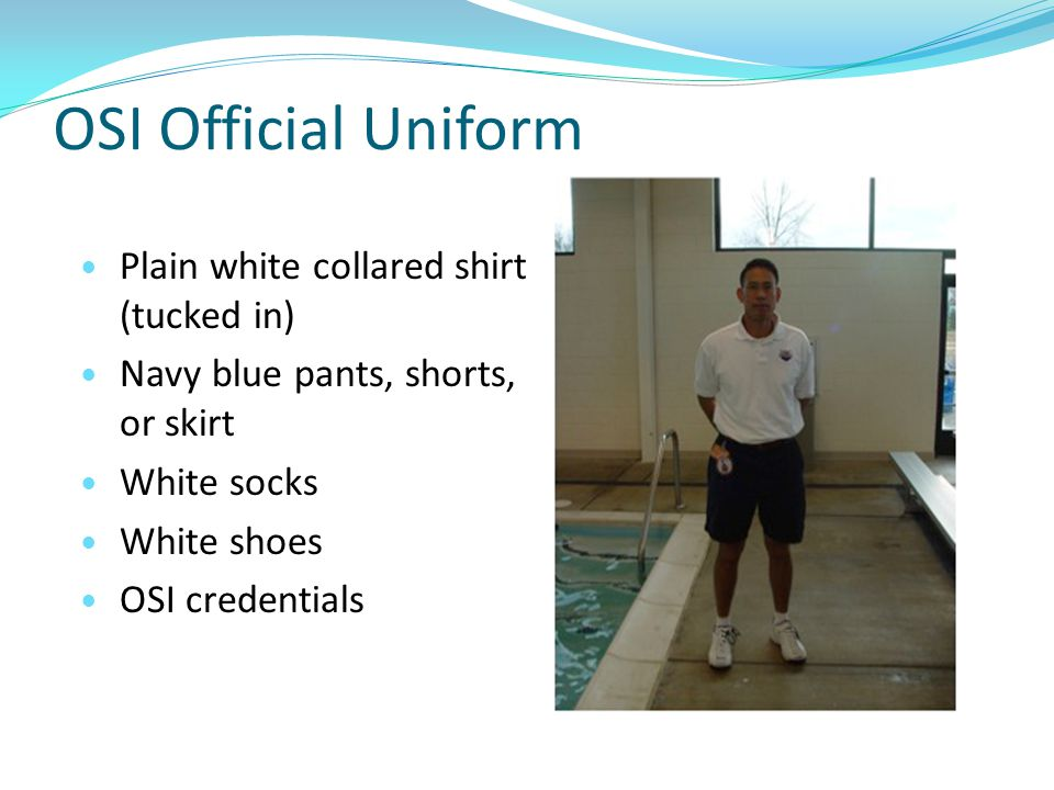 OSI Official Uniform Plain white collared shirt (tucked in)