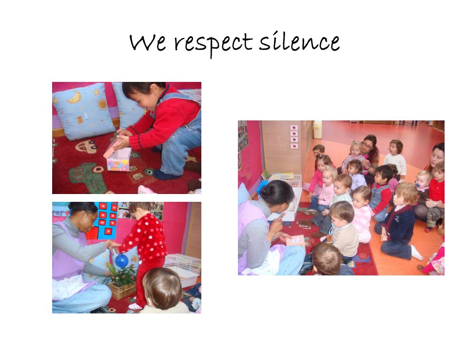 We respect silence