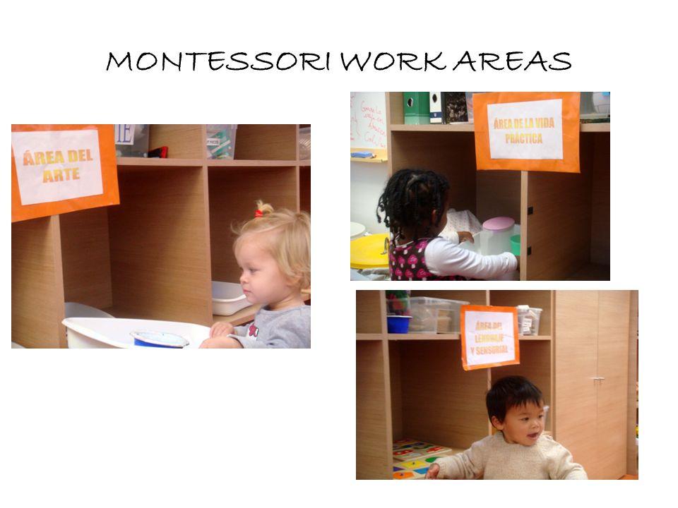 MONTESSORI WORK AREAS