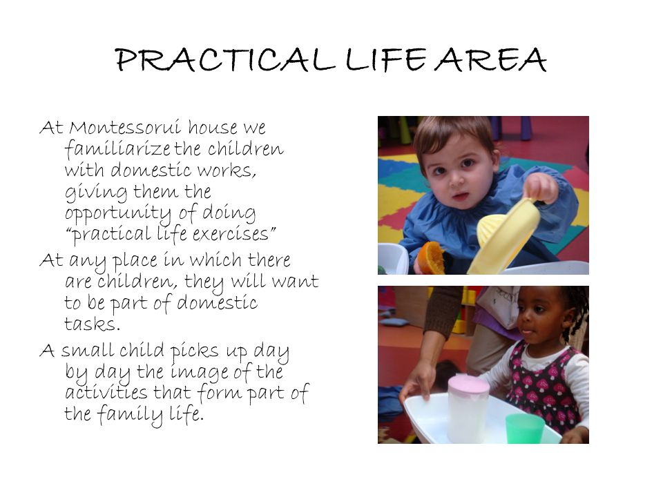 PRACTICAL LIFE AREA