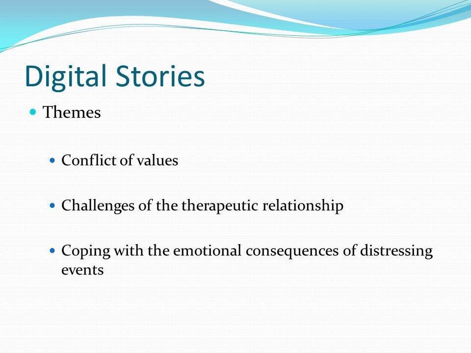 Digital Stories Themes Conflict of values