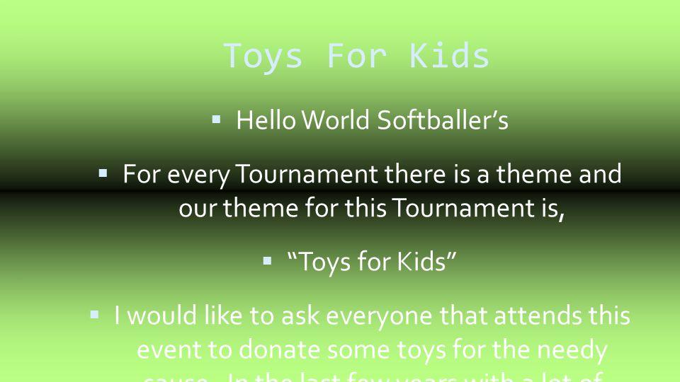 Hello World Softballer's