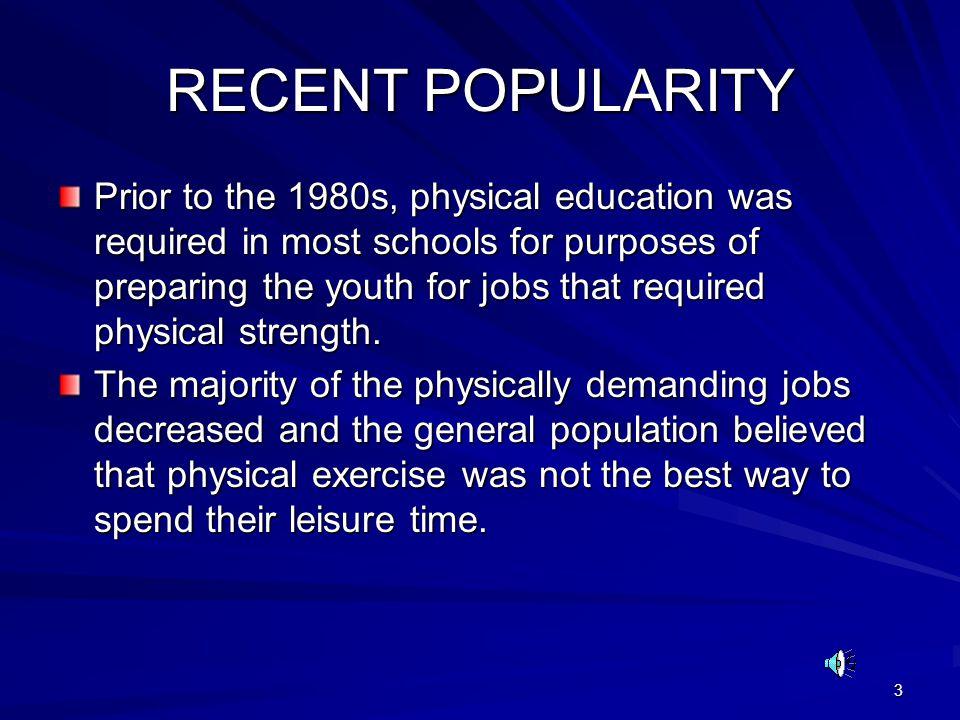 RECENT POPULARITY