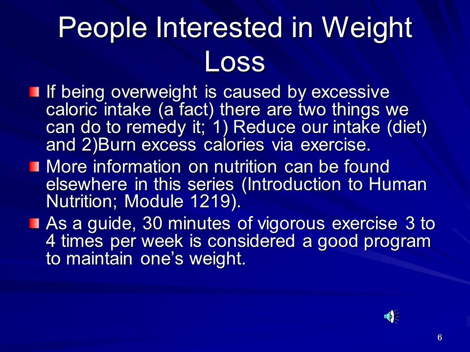 People Interested in Weight Loss