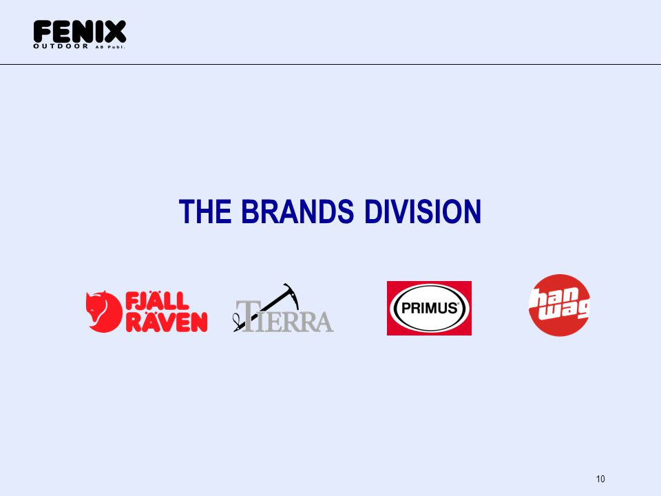 THE BRANDS DIVISION