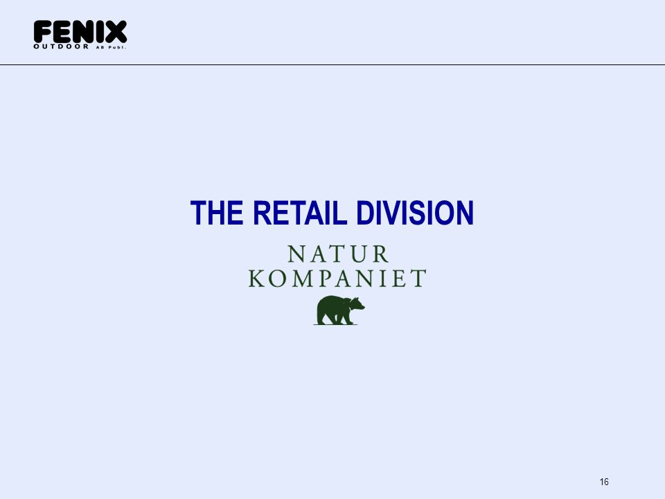 THE RETAIL DIVISION