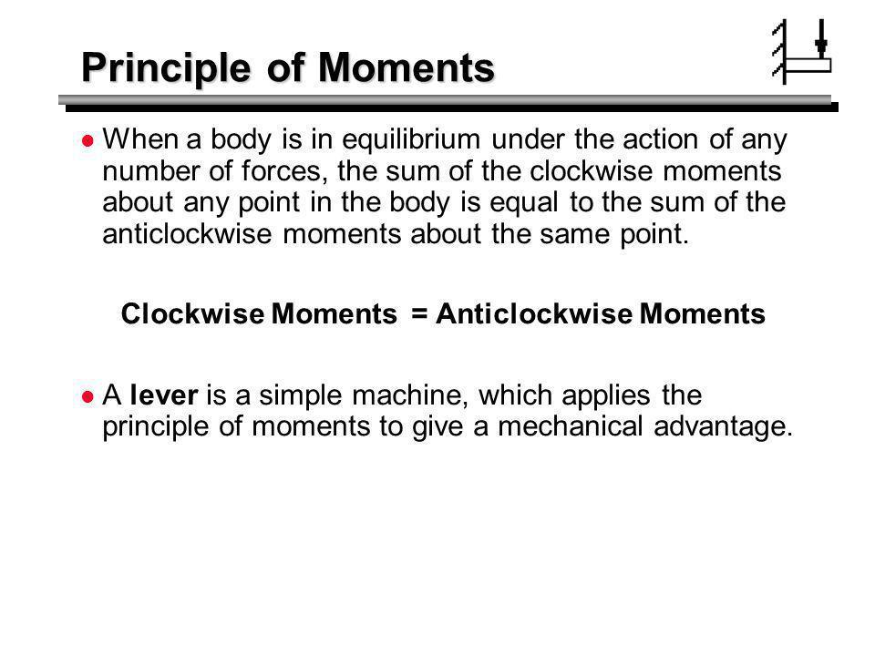 Principle of Moments