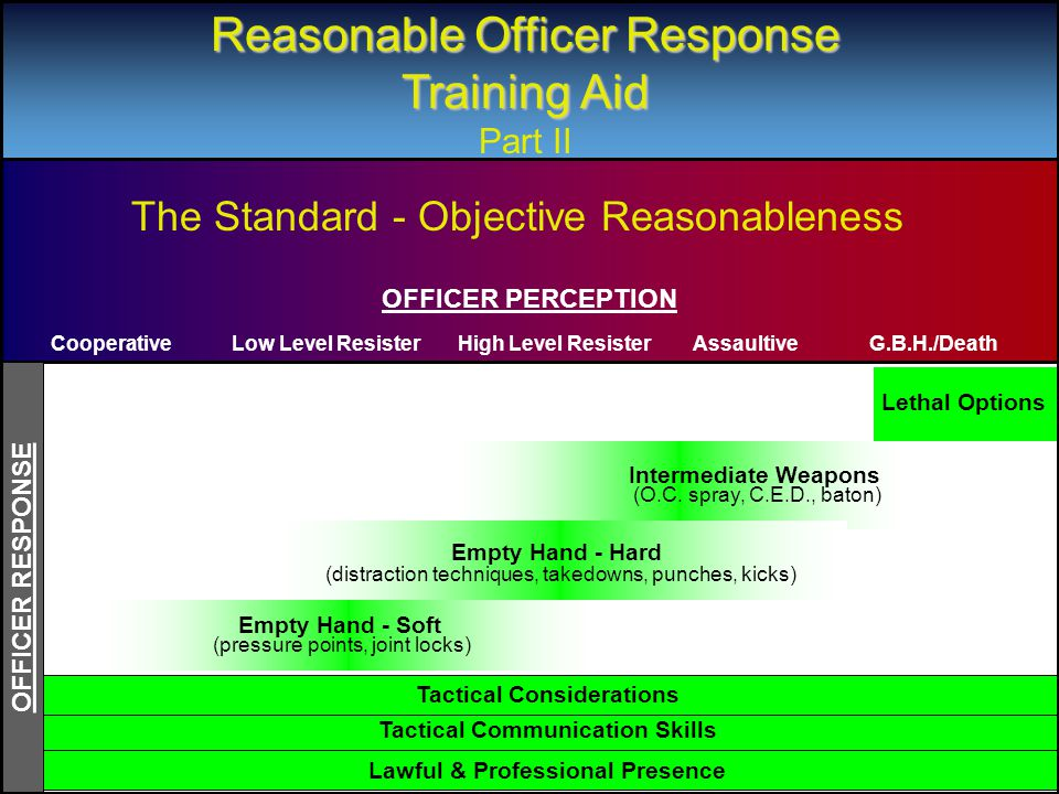 Grips Reasonable Officer Response Training Aid Part II