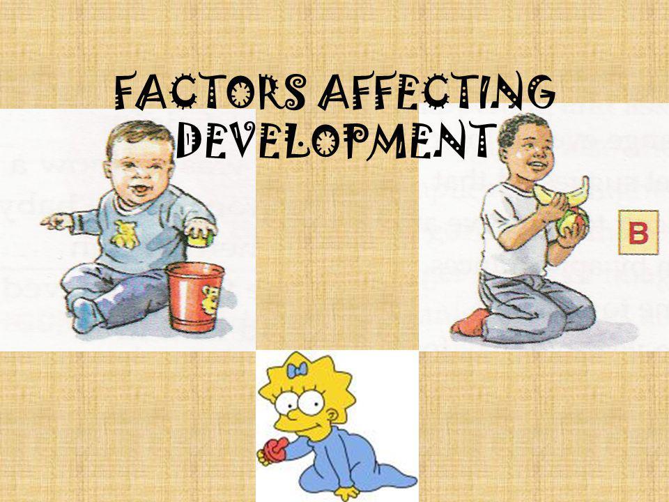 FACTORS AFFECTING DEVELOPMENT
