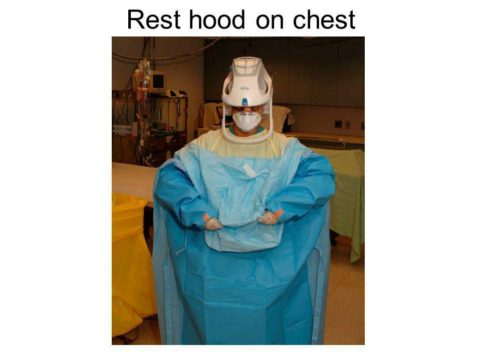 Rest hood on chest