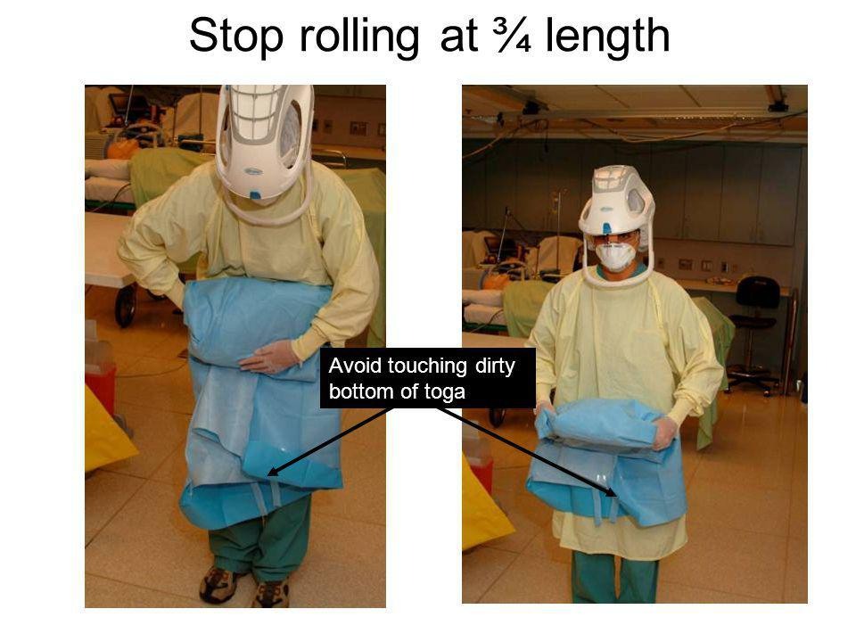 Stop rolling at ¾ length