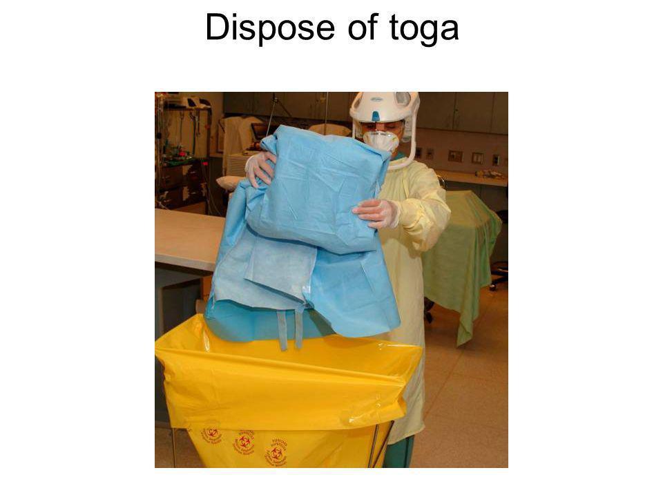 Dispose of toga