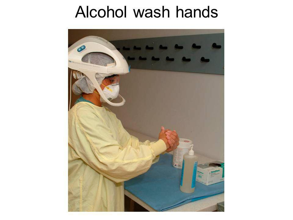 Alcohol wash hands
