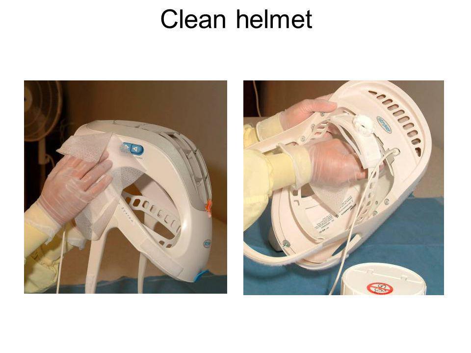 Clean helmet
