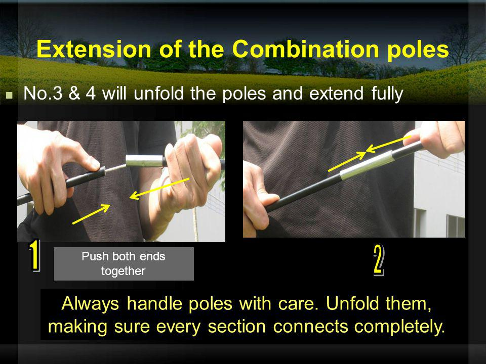 Extension of the Combination poles