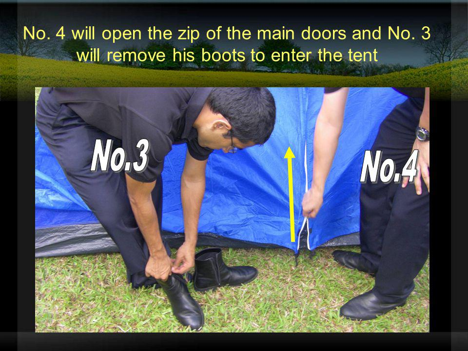 No. 4 will open the zip of the main doors and No