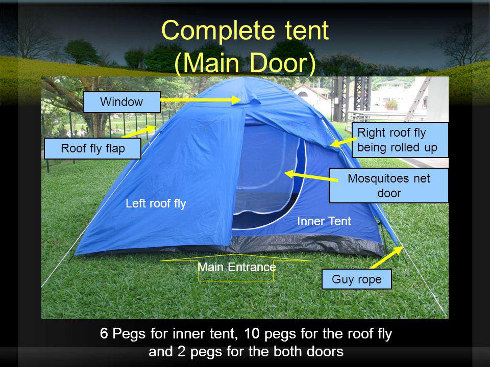 Complete tent (Main Door)