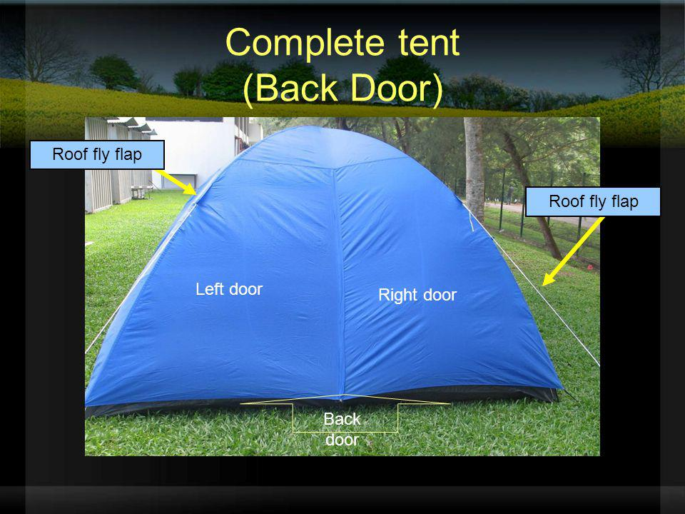 Complete tent (Back Door)