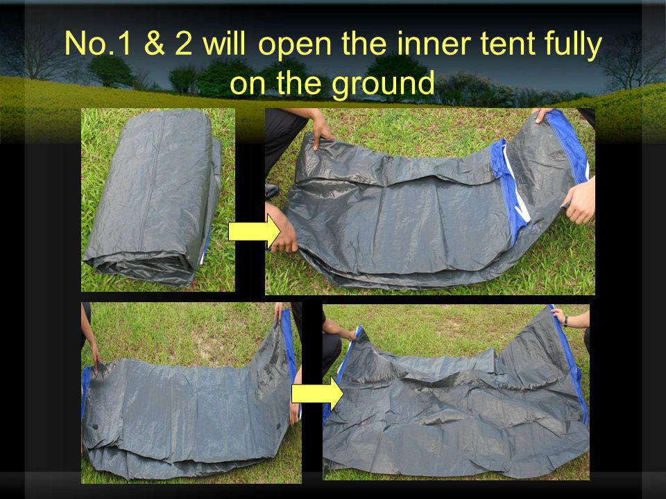 No.1 & 2 will open the inner tent fully on the ground